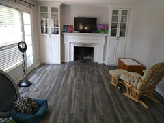 Luxury Vinyl Plank in modern gray color