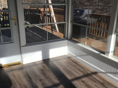 Luxury Vinyl Plank on sunporch