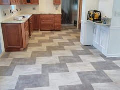 Luxury Vinyl Tile in kichen
